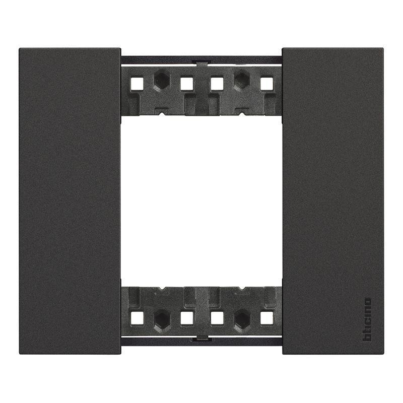afwerkkader 2 modules zwart livingnow