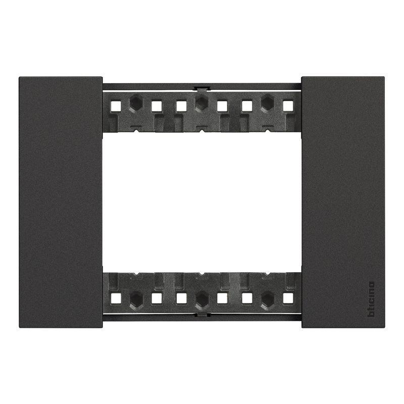 afwerkkader 3 modules zwart livingnow