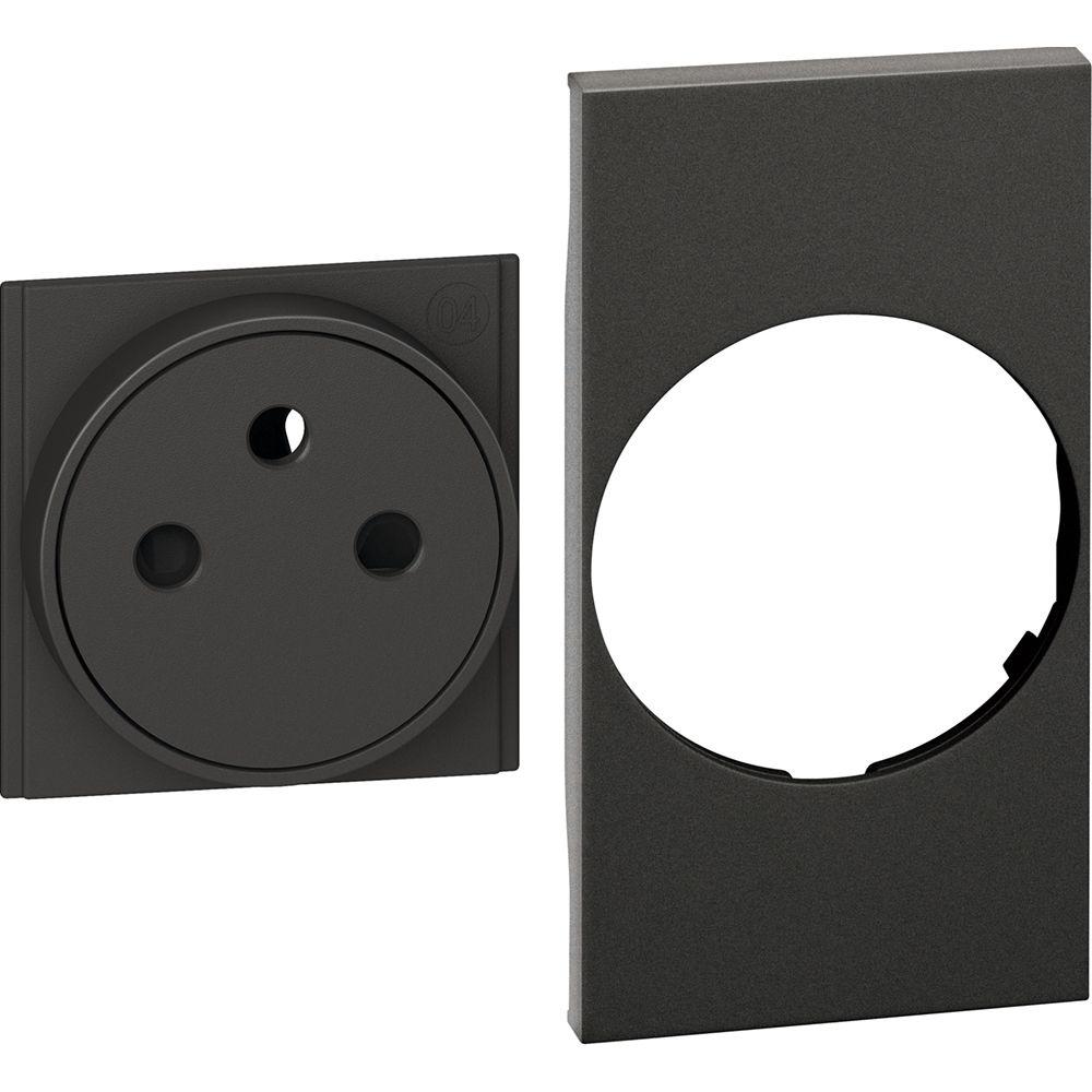 frontstukje voor stopcontact zwart livingnow
