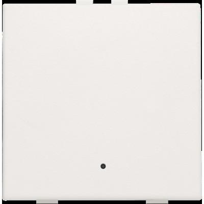 Enkelvoudige drukknop met led voor Niko Home Control, wit