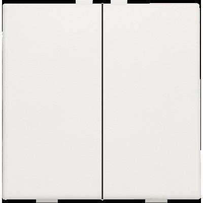 Tweevoudige drukknop voor Niko Home Control, wit