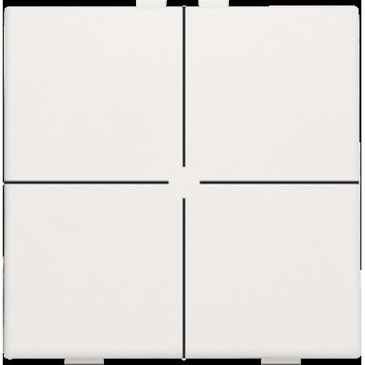 Viervoudige drukknop voor Niko Home Control, wit