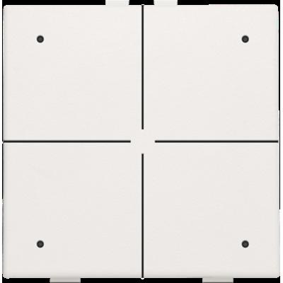 Viervoudige drukknop met led voor Niko Home Control, wit