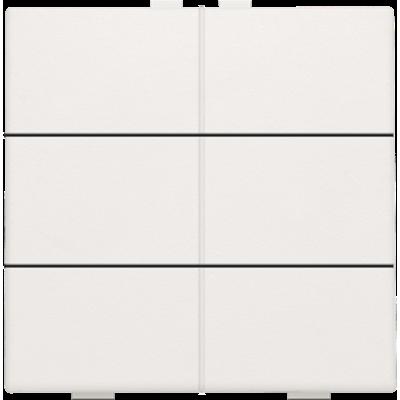 Zesvoudige drukknop voor Niko Home Control, wit
