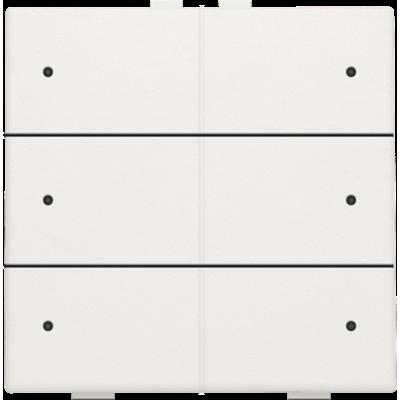 Zesvoudige drukknop met led voor Niko Home Control, wit