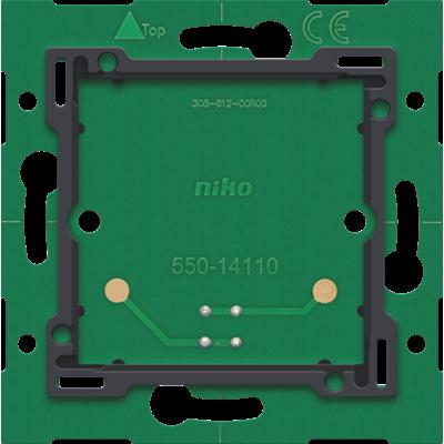 Enkelvoudige muurprint met connector voor Niko Home Control