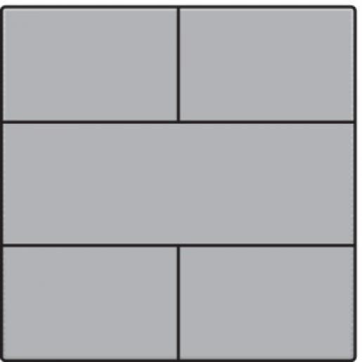 Afwerkingsset voor 4-voudige potentiaalvrije drukknop 24 V, sterling