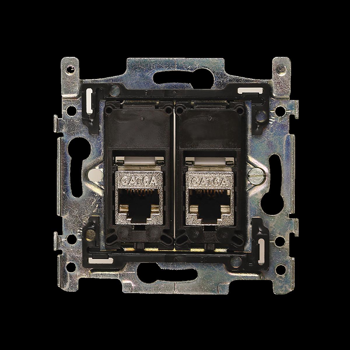 stopcontact cat6 dubbel