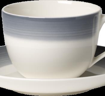 Cosy Grey Koffiekop en -schotel