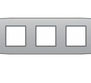 Niko Afdekplaat drievoudig 71 mm