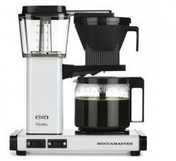 Moccamaster koffiezetapparaat metaalwit