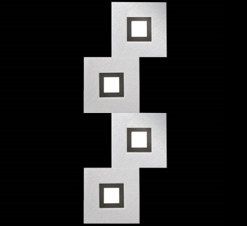 Karree 4 Aluminium-Zwart