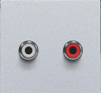 Niko Afwerkingsset met 2 CINCH-audioaansluitingen, Silver