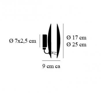Lederam W 17cm koper