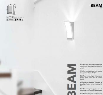 Beam LED mat nikkel